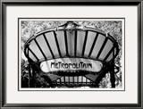 Metro Entrance, Paris Framed Giclee Print by Heiko Lanio