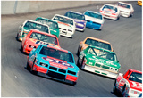 Champion 400 Nascar Race 1987 Archival Photo Poster Posters
