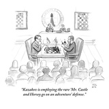 """Kazakov is employing the rare 'Mr. Castle and Horsey go on an adventure' …"" - New Yorker Cartoon Regular Giclee Print by Paul Noth"