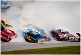 NASCAR Crash 1993 Daytona 500 Archival Photo Poster - Resim