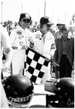 Johnny Rutherford and Jan-Michael Vincent 1976 Archival Photo Poster Posters