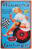 Winners Garage Tin Sign