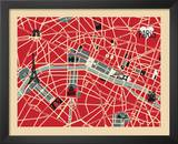 Vintage Map of Paris Art by Ladyleia