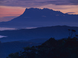 Mount Kinabalu at Dawn, Sabah, Borneo Photographic Print by Frans Lanting