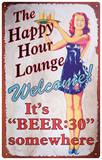 Beer Thirty Tin Sign