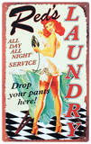 Reds All Night Laundry Plaque en métal