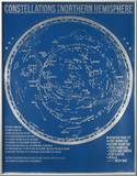Constellations of the Northern Hemisphere (Blue) Print by Kyle & Courtney Harmon