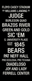 Baylor: College Town Wall Art Stretched Canvas Print