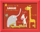 Savannah Animals Art by Isabelle Jacque