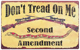 Second Amendment Tin Sign
