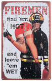 Find 'Em Hot Emaille bord