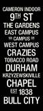 Duke: College Town Wall Art Lærredstryk på blindramme