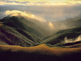 Coastal Fog Forming on Ridges (Aerial), Big Sur, California Photographic Print by Frans Lanting