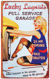 Lucky Lugnuts Tin Sign