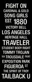 USC: College Town Wall Art Lærredstryk på blindramme