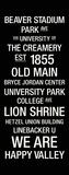 Penn State: College Town Wall Art Lærredstryk på blindramme