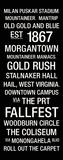 West Virginia: College Town Wall Art Reproduction transférée sur toile