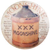 Moonshine Sign Placa de lata