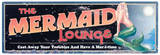 Mermaid Lounge Cartel de chapa