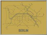 Berlin (Ochre & Gunmetal Gray) Art by  Line Posters