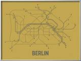 Berlin (Ochre & Gunmetal Gray) Art by  Line Posters