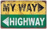 My Way Plaque en métal