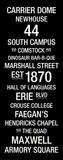 Syracuse: College Town Wall Art Lærredstryk på blindramme