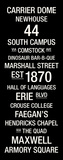 Syracuse: College Town Wall Art Stretched Canvas Print