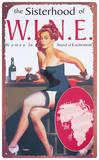 W-I-N-E Tin Sign