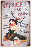 Stirrers Martini Plaque en métal