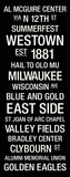 Marquette: College Town Wall Art Stretched Canvas Print