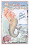 Mermaid Advertising Cartel de chapa