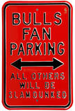 Bulls Slam Dunked Parking Steel Sign Wall Sign