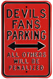 Devils Penalized Parking Steel Sign Wall Sign