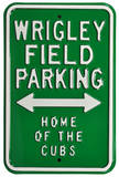Wrigley Field Home Cubs Parking Steel Sign Wall Sign