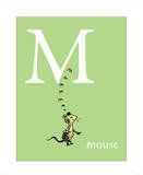 M is for Mouse (green) Prints by Theodor (Dr. Seuss) Geisel