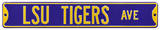 LSU Tigers Ave purple Steel Sign Wall Sign