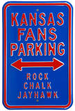 Kansas Fans Rock Chalk Parking Steel Sign Wall Sign