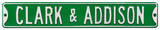 Clark & Addison Cubs Steel Sign Wall Sign