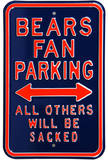 Bears Sacked Parking Steel Sign Wall Sign