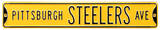 Pittsburgh Steelers Ave Yellow Steel Sign Wall Sign