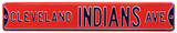 Cleveland Indians Ave Steel Sign Wall Sign