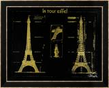 Eiffel Tower (Gold) Prints by Kyle & Courtney Harmon
