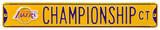 Lakers Championship Ct Steel Sign Wall Sign