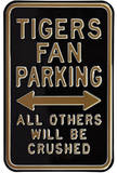 Tigers Crushed Parking Missouri Steel Sign Wall Sign