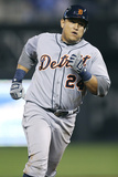 Kansas City, MO - October 1: Detroit Tigers v Kansas City Royals - Miguel Cabrera Photographic Print by Ed Zurga