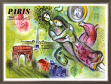 Paris, l'Opera, 1965 Framed Giclee Print by Marc Chagall