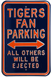 Tigers Ejected Parking Steel Sign Wall Sign