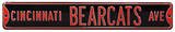 Cincinnati Bearcats Ave Steel Sign Wall Sign