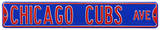 Chicago Cubs Ave Steel Sign Wall Sign